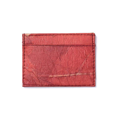 Leaf Leather Slim Wallet - Red  -  LL Slim Wallet Red