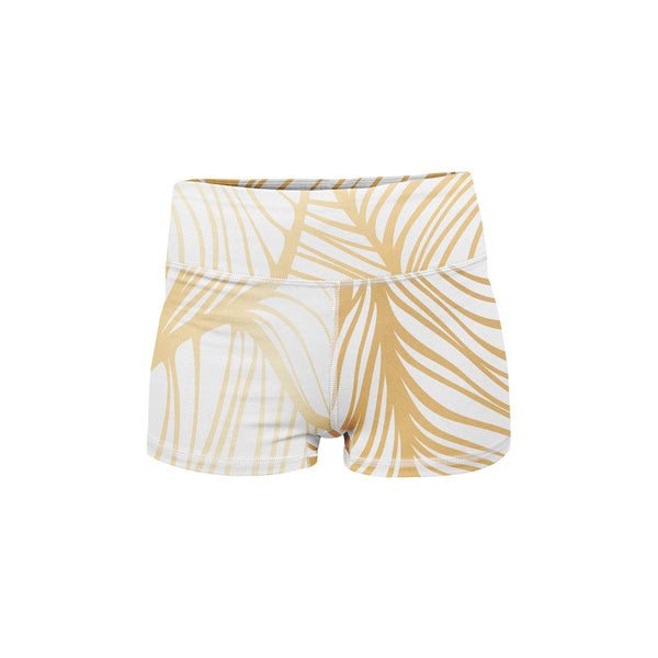Royal Leaf Yoga Shorts  -  Women's Shorts