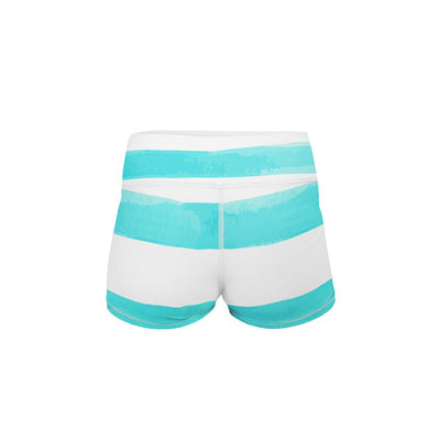 Sea Stripes Yoga Shorts  -  Women's Shorts