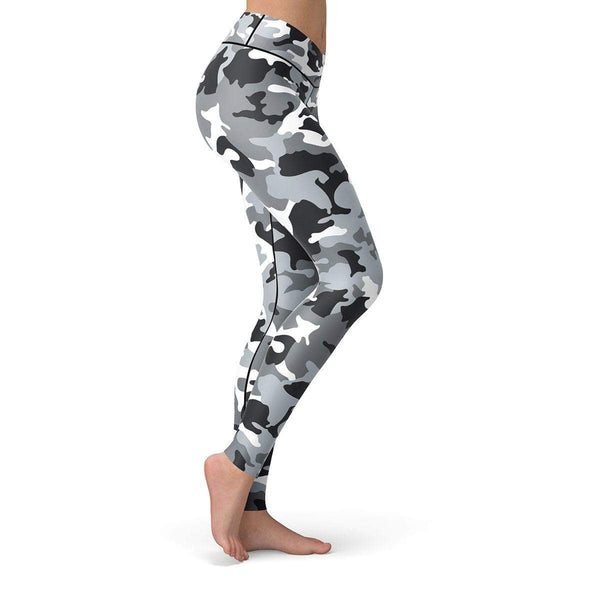 Snow Camo Leggings  -  Yoga Pants
