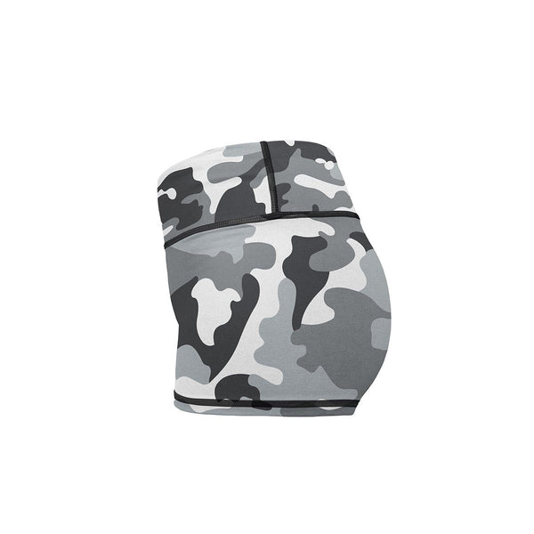 Snow Camo Yoga Shorts  -  Women's Shorts