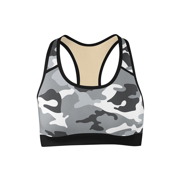 Snow Camo Sports Bra  -  Yoga Top