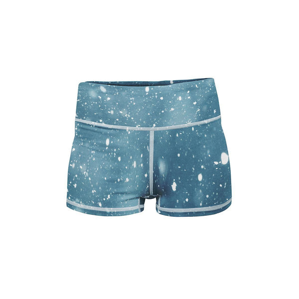Snow Storm Yoga Shorts  -  Women's Shorts
