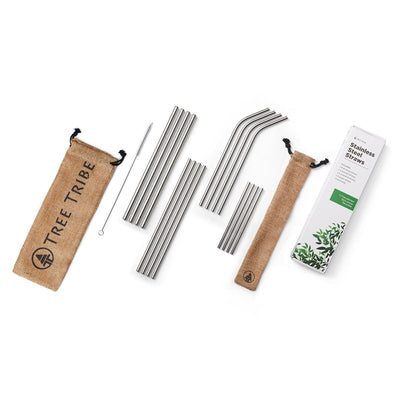 Stainless Steel Straws  -  Reusable Straws