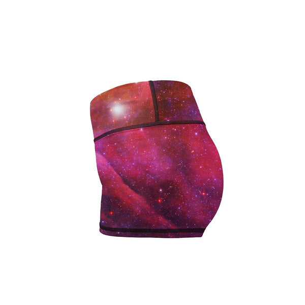 Starburst Galaxy Yoga Shorts  -  Women's Shorts