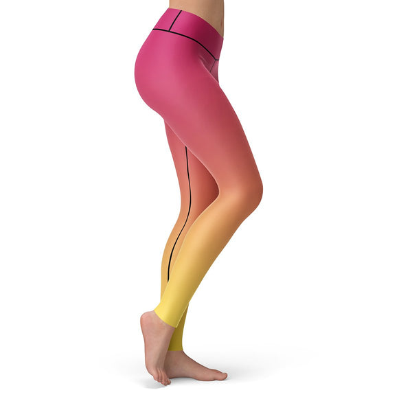 Summer Sunset Leggings  -  Yoga Pants