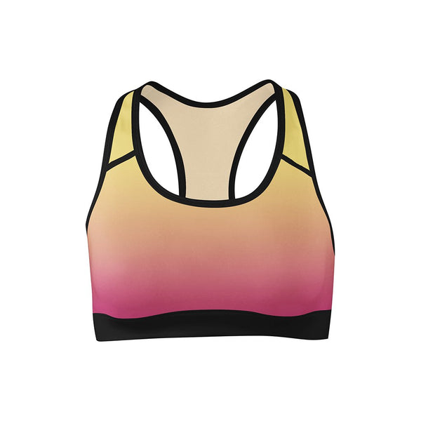 Summer Sunset Sports Bra  -  Yoga Top