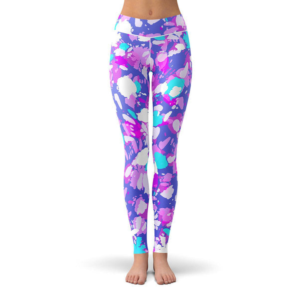 Sunburst Neon Leggings  -  Yoga Pants