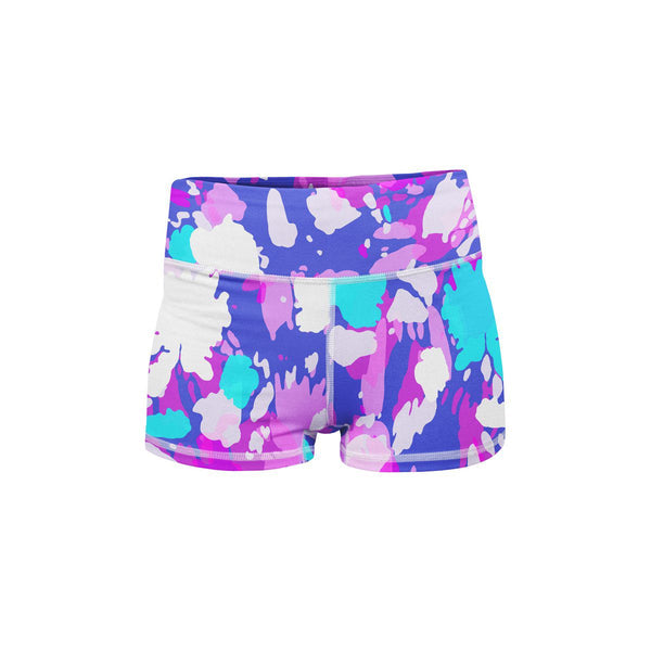 Sunburst Neon Yoga Shorts  -  Women's Shorts