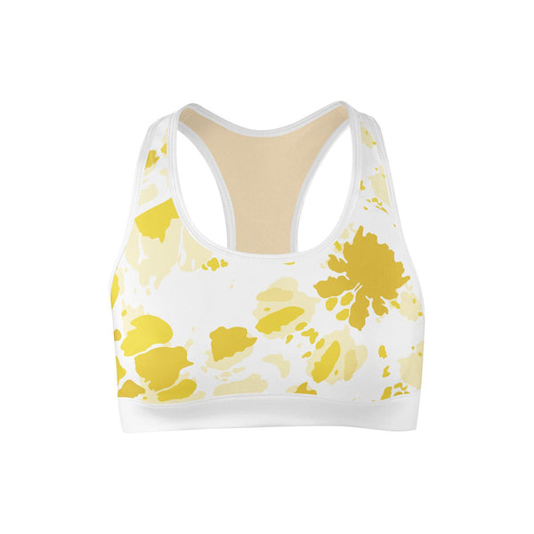 Sunburst Yellow Sports Bra  -  Yoga Top