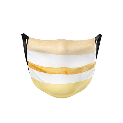 Sunny Stripes Face Mask  -  Face Mask