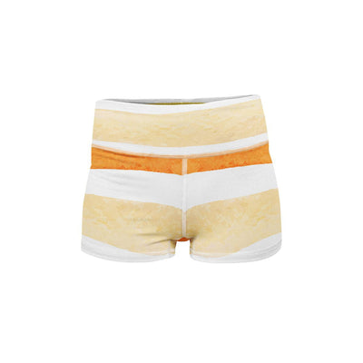 Sunny Stripes Yoga Shorts  -  Women's Shorts
