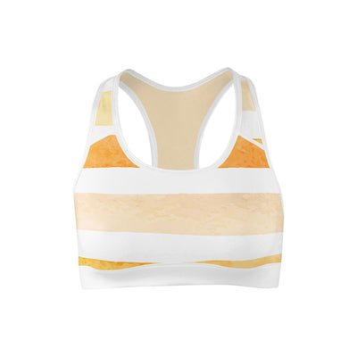 Sunny Stripes Sports Bra  -  Yoga Top