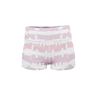 Tie Die Yoga Shorts  -  Women's Shorts