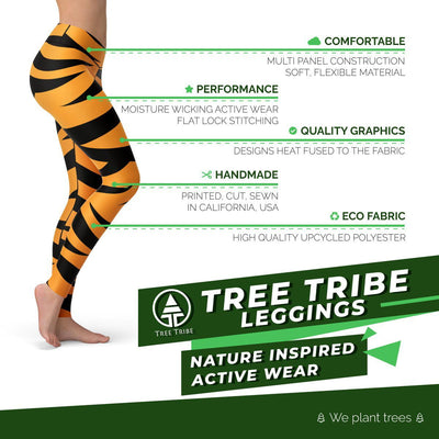 Tiger Leggings  -  Yoga Pants