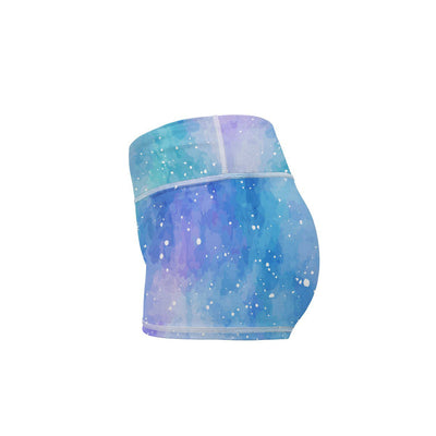 Unicorn Galaxy Yoga Shorts  -  Women's Shorts