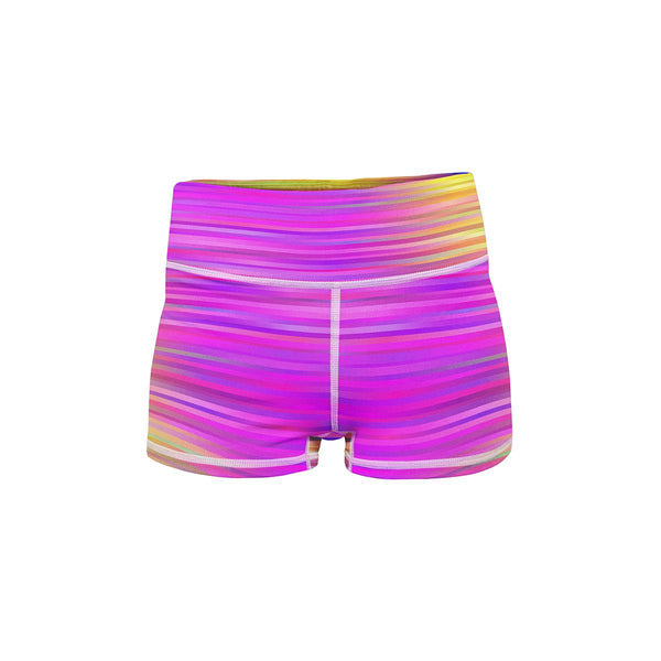 Vibrant Yoga Shorts  -  Women's Shorts