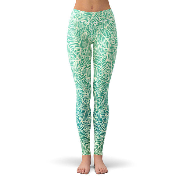 Vitamin Leaf Leggings  -  Yoga Pants