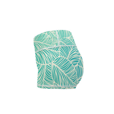 Vitamin Leaf Yoga Shorts  -  Women's Shorts