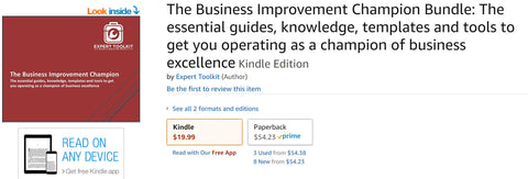 Business Improvement and Management Consulting Tools by Expert Toolkit on Amazon Kindle