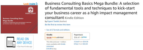 Management Consulting and Business Analysis Tools by Expert Toolkit on Amazon Kindle