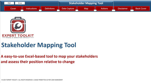 Automatic Stakeholder Mapping Tool by Expert Toolkit - Business Analysis tools to manage stakeholders and complex business transformation