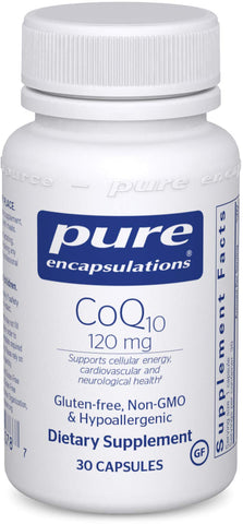 Our favorite energy supplement: Pure Encapsulations Coenzyme Q10