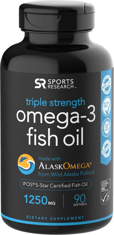 Our favorite Omega-3 fish oil: Sports Research Triple Strength