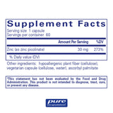 Our favorite Zinc supplement: Pure Encapsulations - Zinc 30