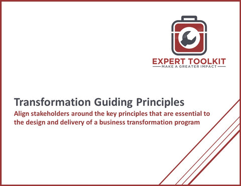 Business Transformation Guiding Principles by Expert Toolkit - Cover