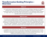 Business Transformation Guiding Principles by Expert Toolkit - Overview
