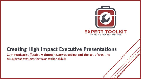 Creating High Impact Executive Presentations by Expert Toolkit - Cover Slide