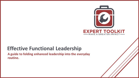 Effective Functional Leadership by Expert Toolkit - Cover