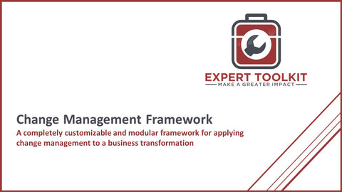Expert Toolkit Change Management Framework - Cover