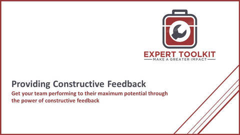 A Guide To Providing Constructive Feedback - Guide