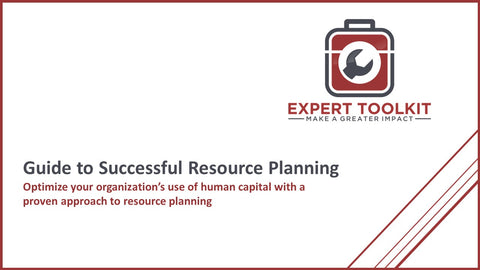 Expert Toolkit Guide to Successful Resource Planning - Cover