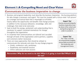 Compelling needs and clear vision