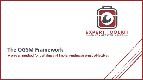 The OGSM Framework by Expert Toolkit - Cover Page