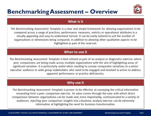Ready to use benchmarking assessment template by expert toolkit benchmarking assessment guide template template maxwellsz