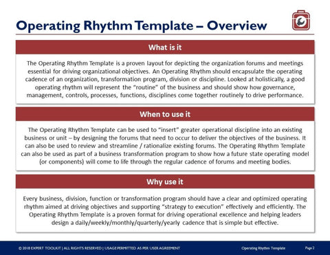 Business operating rhythm template guide by expert toolkit business operating rhythm template and guide template accmission Images