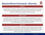 Business Performance Metric Framework Guide & Template - Template
