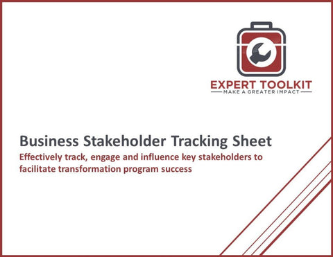Business Stakeholder Tracking Sheet Guide And Template - Default - Template