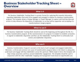 Business Stakeholder Tracking Sheet Guide And Template - Template