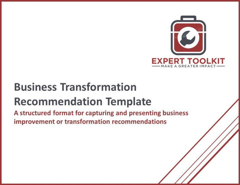 Business Transformation Recommendation Template - Default - Template