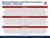 Business Transformation Recommendation Template - Template