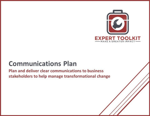 Communication Plan Guide And Template - Default - Template
