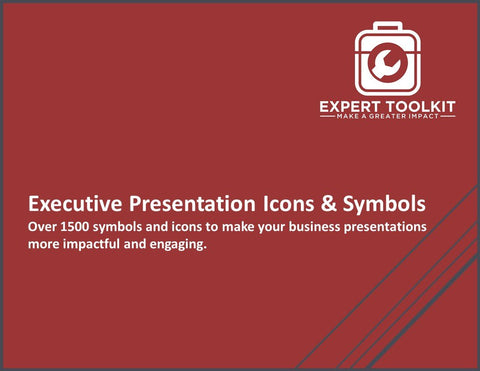 Executive Presentation Icons and Symbols by Expert Toolkit