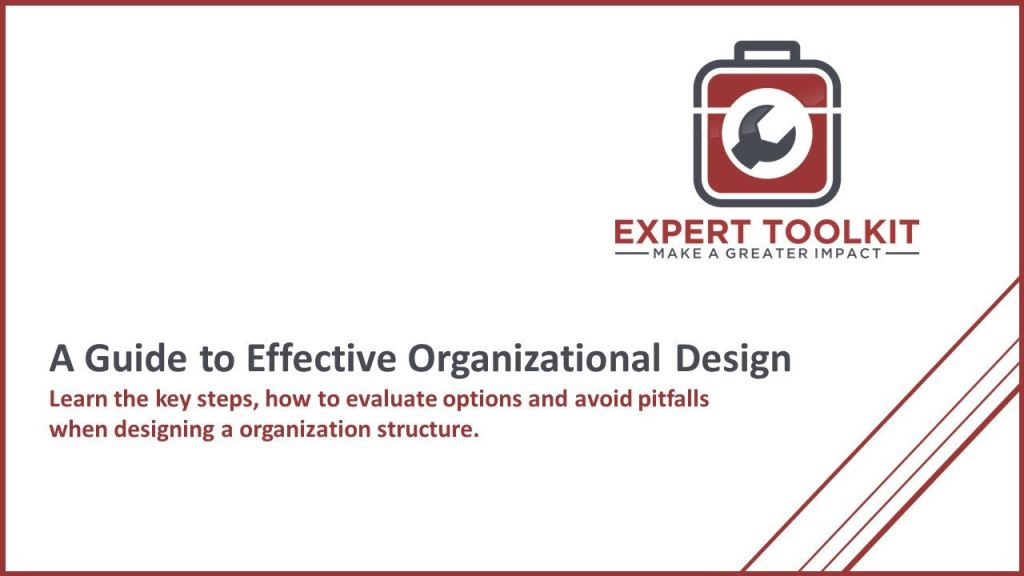 Guide To Organization Design By Expert Toolkit