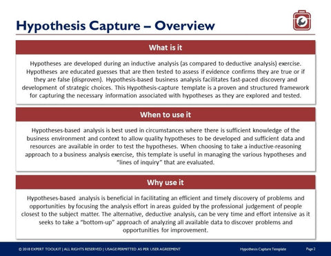 Expert Toolkit Hypothesis Analysis Guide & Template