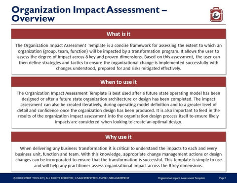 Organization impact assessment template and guide by expert toolkit organization impact assessment template and guide template friedricerecipe Choice Image